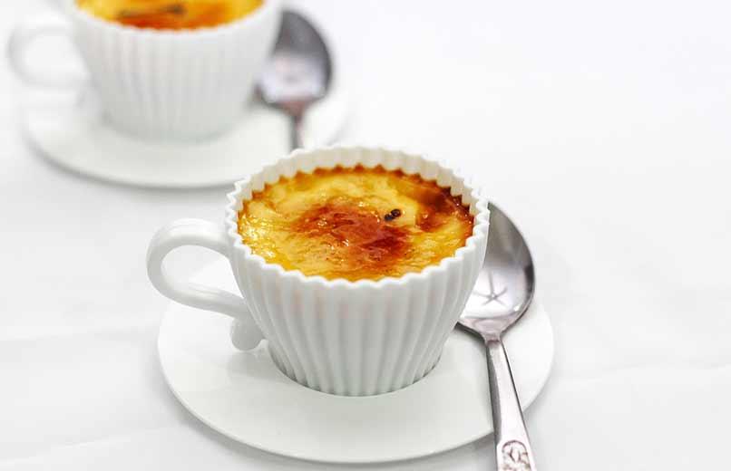 Crème brûlée ile Tiramisu